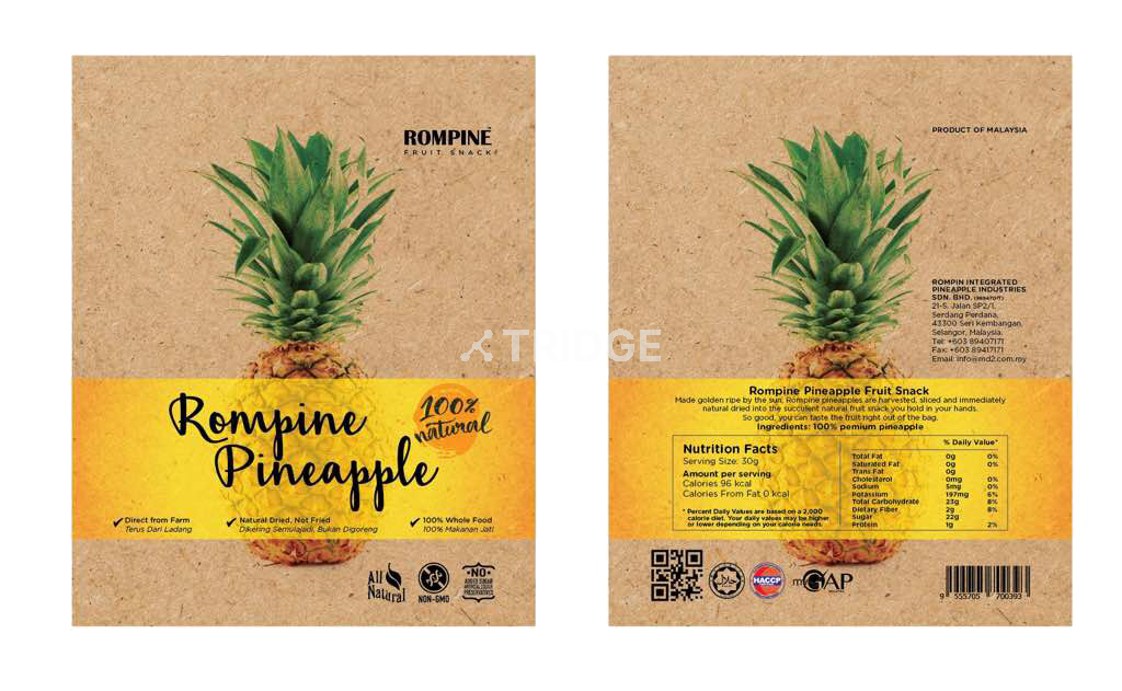 ROMPINE Dried Pineapple
